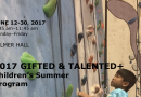 Colorado College 2017 Gifted & Talented Summer Program